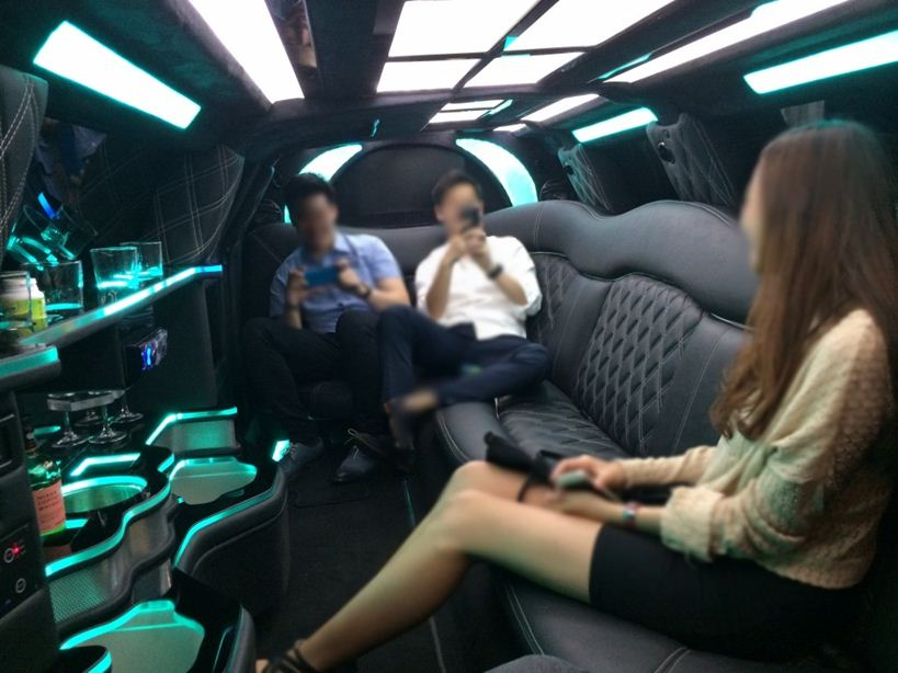 seating inside limo 2