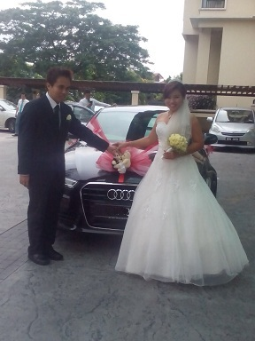 audi a6 wedding couple21