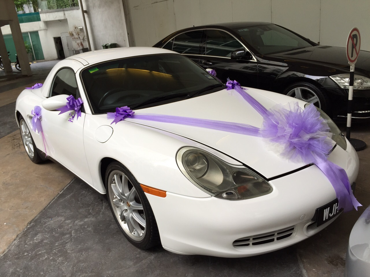 Asian wedding car decoration malaysia wedding services boxster s wedding car junglespirit Choice Image
